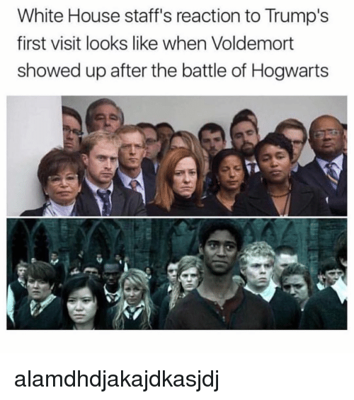 Memes, White House, and House: White House staff's reaction to Trump's  first visit looks like when Voldemort  showed up after the battle of Hogwarts alamdhdjakajdkasjdj