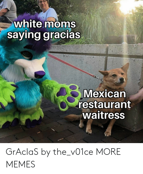 Dank, Memes, and Moms: white moms  saying gracias  Mexicarn  restaurant  waitress GrAcIaS by the_v01ce MORE MEMES
