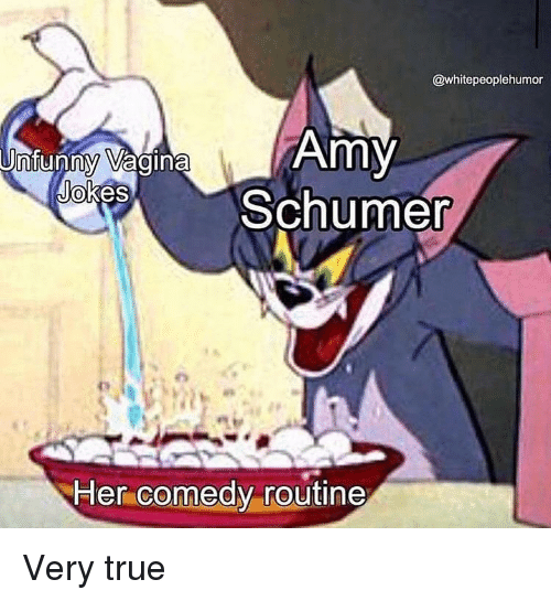Amy Schumer: @whitepeoplehumor  Amy  Schumer  0  Her comedy routine Very true