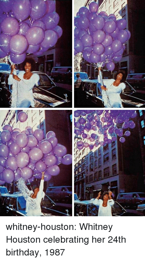 whitney houston: whitney-houston: Whitney Houston celebrating her 24th birthday, 1987