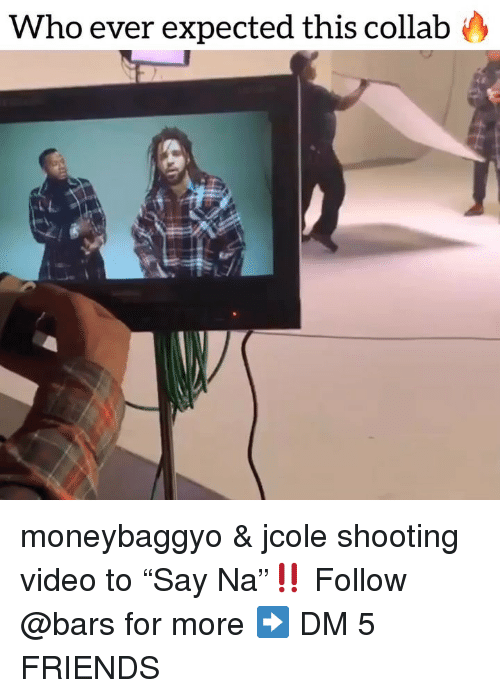 """Shooting Video: Who ever expected this collabo moneybaggyo & jcole shooting video to """"Say Na""""‼️ Follow @bars for more ➡️ DM 5 FRIENDS"""