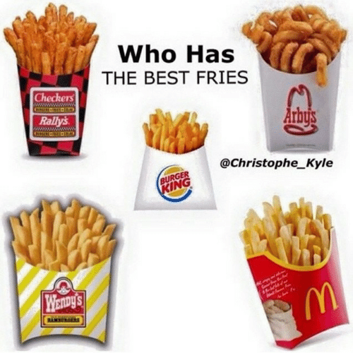 christophe: Who Has  THE BEST FRIES  Checkers  Rallys  @Christophe_Kyle  BURGER