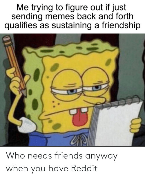 When You Have: Who needs friends anyway when you have Reddit