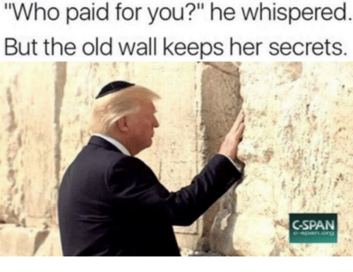 """cspan: Who paid for you?"""" he whispered  But the old wall keeps her secrets  CSPAN"""