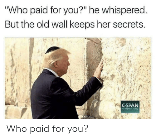 "secrets: ""Who paid for you?"" he whispered.  But the old wall keeps her secrets  C-SPAN  C-span.org Who paid for you?"