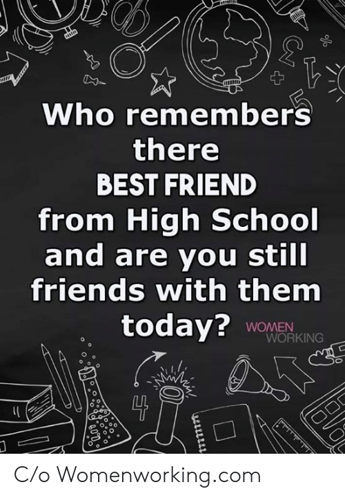 Best Friend, Friends, and School: Who remembers  there  BEST FRIEND  from High School  and are you still  friends with them  today? WOMEN  WORKING  0 C/o Womenworking.com