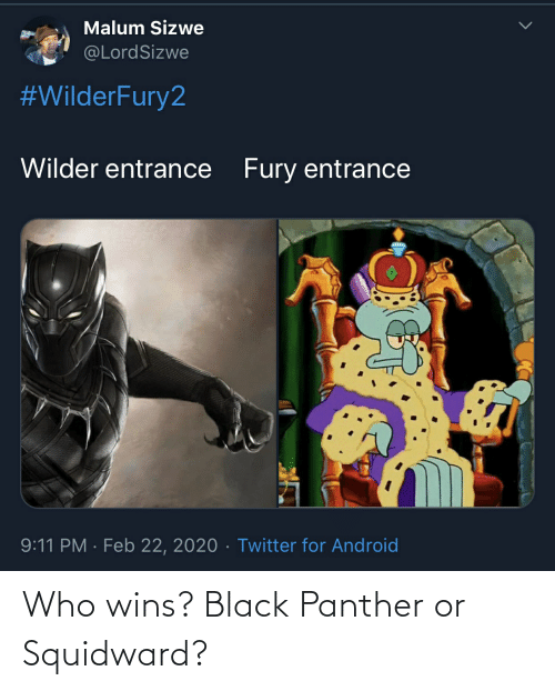 Black Panther: Who wins? Black Panther or Squidward?