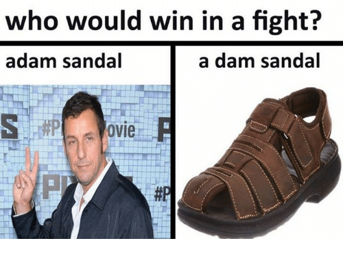 fightings: who would win in a fight?  adam sandal  a dam sandal  ovie  邾