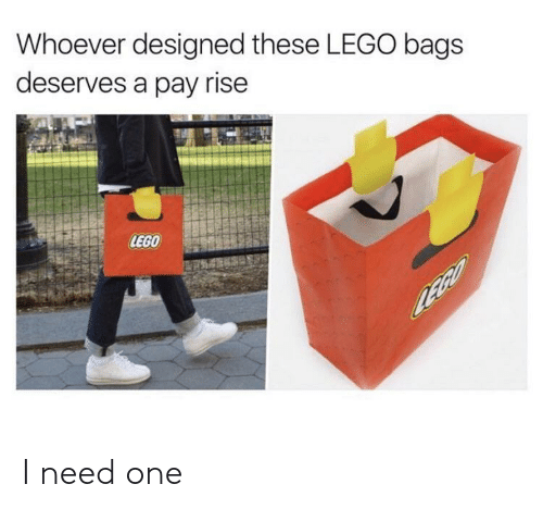 Lego, One, and Bags: Whoever designed these LEGO bags  deserves a pay rise  LEGO I need one