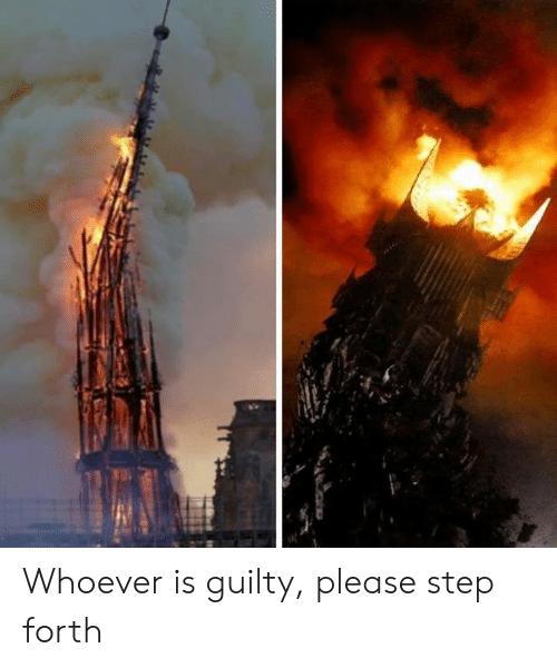 The Lord of the Rings: Whoever is guilty, please step forth