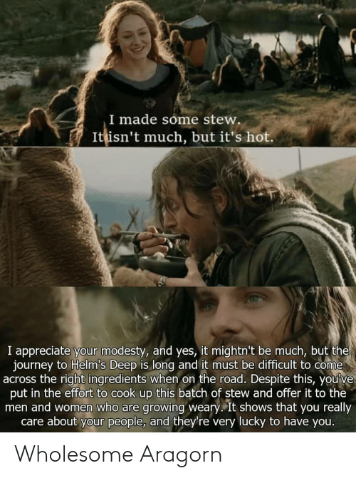 Wholesome: Wholesome Aragorn