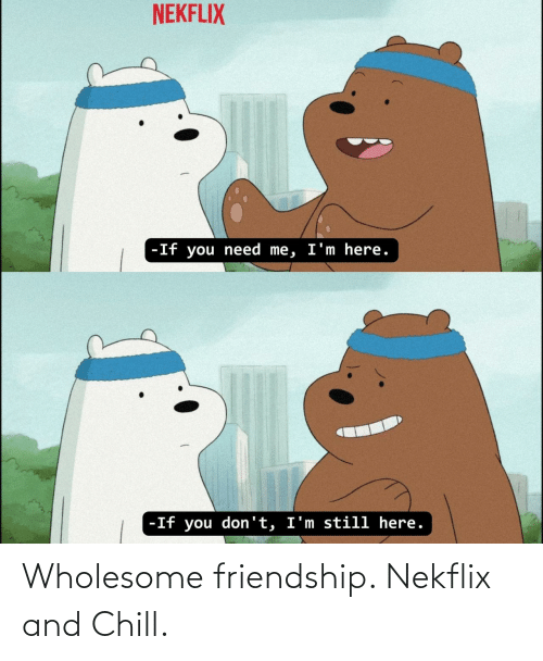Wholesome: Wholesome friendship. Nekflix and Chill.