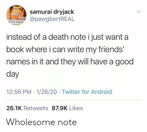Wholesome: Wholesome note