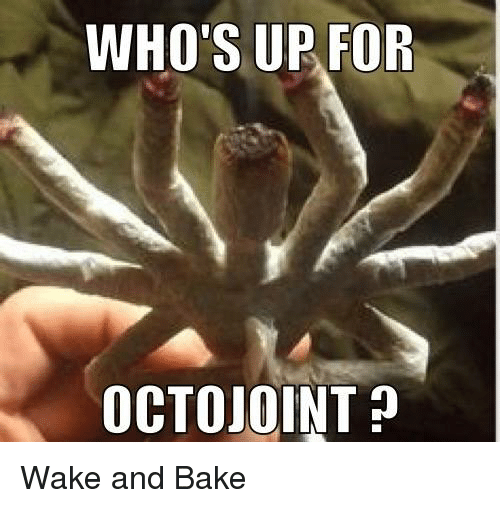 Whos Up: WHO'S UP FOR  OCTOJOINT Wake and Bake