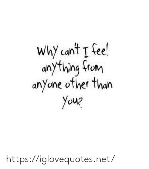 Net, Why, and You: Why cant I feel  anything from  anyone other than  You? https://iglovequotes.net/