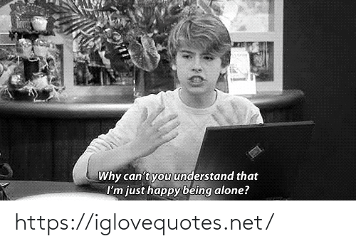 Im Just: Why can't you understand that  I'm just happy being alone? https://iglovequotes.net/