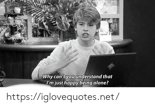 being alone: Why can'tyou understand that  I'm just happy being alone? https://iglovequotes.net/