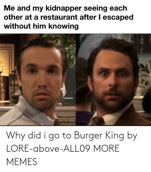 burger: Why did i go to Burger King by LORE-above-ALL09 MORE MEMES