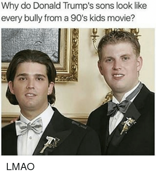 kid movie: Why do Donald Trump's sons look like  every bully from a 90's kids movie? LMAO