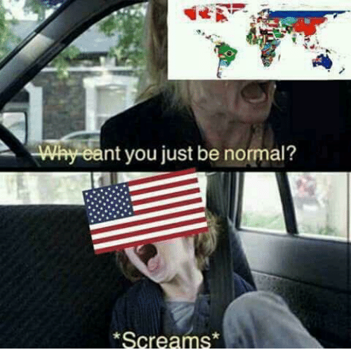 Polandball: Why eant you just be normal?  Screams