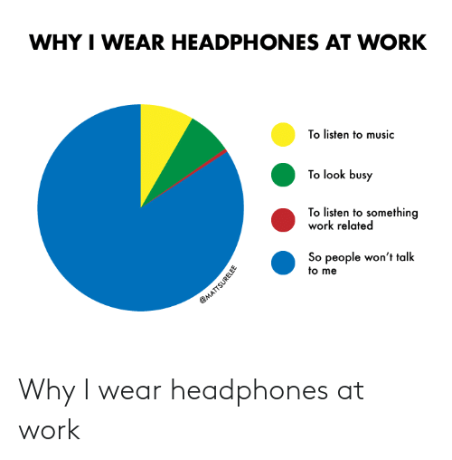 at-work: Why I wear headphones at work