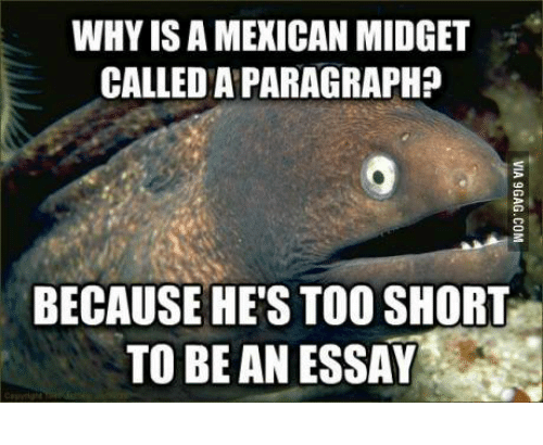 Mexican joke too short to be an essay research paper writing