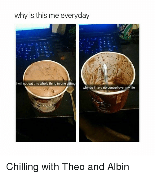 albinism: why is this me everyday  I will not eat this whole thing in one sitting  why do I have no control over my life Chilling with Theo and Albin