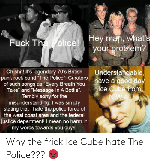 Ice Cube: Why the frick Ice Cube hate The Police??? 😡