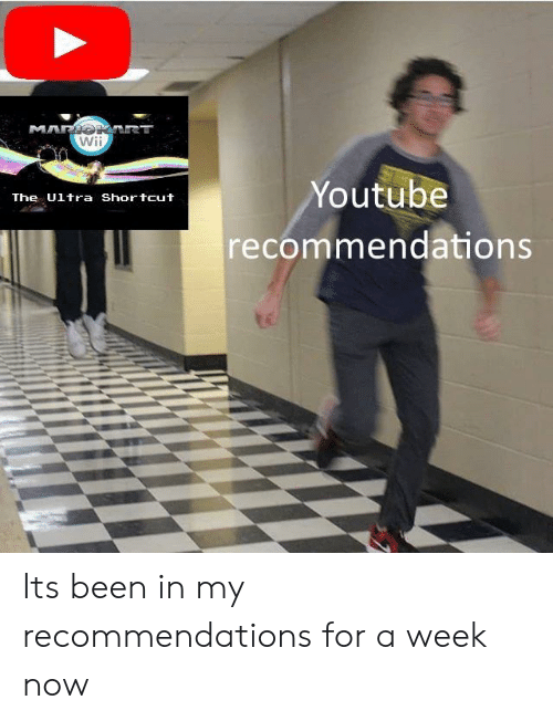 youtube.com, Been, and Wii: Wii  Youtube  recommendations  The Ultra Shortcut Its been in my recommendations for a week now