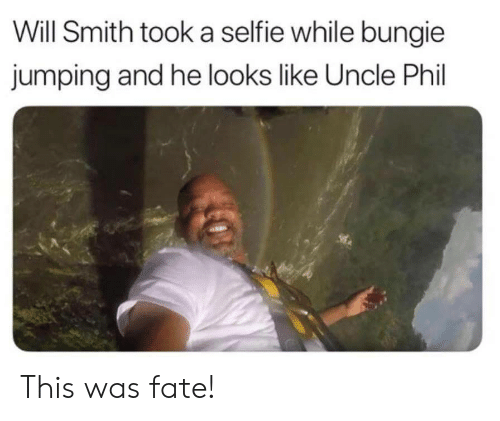 Will Smith: Will Smith took a selfie while bungie  jumping and he looks like Uncle Phil This was fate!