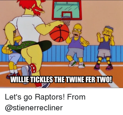 tickling: WILLIE TICKLES THE TWINE FER TWO!  TIELLTHEPER Let's go Raptors! From @stienerrecliner