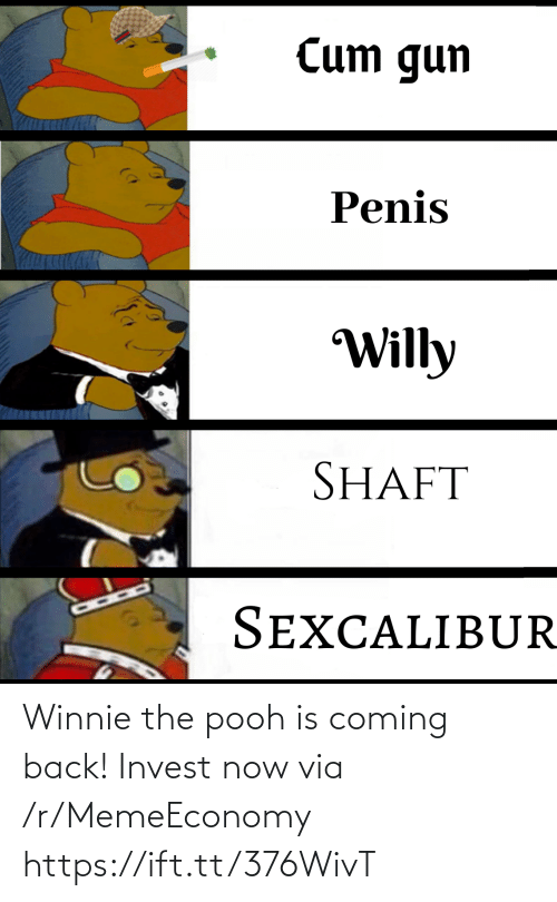 Back: Winnie the pooh is coming back! Invest now via /r/MemeEconomy https://ift.tt/376WivT