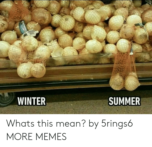 Whats This: WINTER  SUMMER Whats this mean? by 5rings6 MORE MEMES
