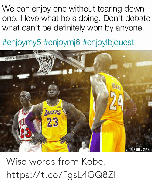 Wise Words: Wise words from Kobe. https://t.co/FgsL4GQ8Zl
