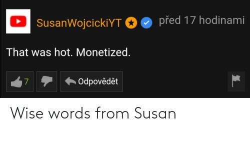 Wise Words: Wise words from Susan