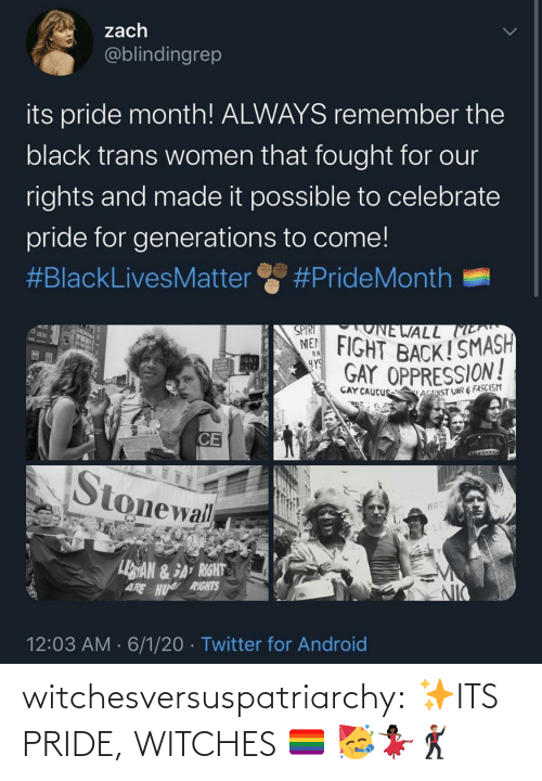 Its: witchesversuspatriarchy:  ✨ITS PRIDE, WITCHES 🏳️🌈 🥳💃🏿🕺🏽