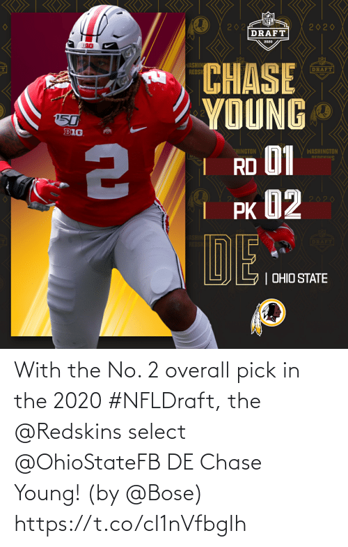 Young: With the No. 2 overall pick in the 2020 #NFLDraft, the @Redskins select @OhioStateFB DE Chase Young!  (by @Bose) https://t.co/cI1nVfbgIh