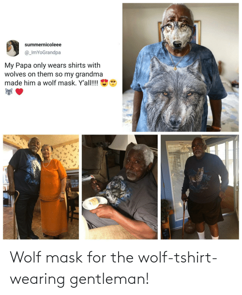 Wolf: Wolf mask for the wolf-tshirt-wearing gentleman!