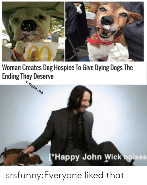 hospice: Woman Creates Dog Hospice To Give Dying Dogs The  Ending They Deserve  u/sejin mb  (*Happy John Wick noises srsfunny:Everyone liked that