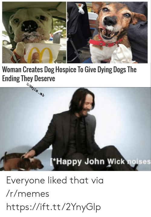 hospice: Woman Creates Dog Hospice To Give Dying Dogs The  Ending They Deserve  u/sejin .mb  *Happy John Wick noises Everyone liked that via /r/memes https://ift.tt/2YnyGlp