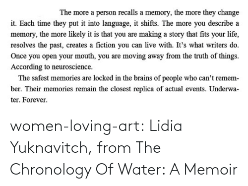 Women: women-loving-art:   Lidia Yuknavitch, from The Chronology Of Water: A Memoir