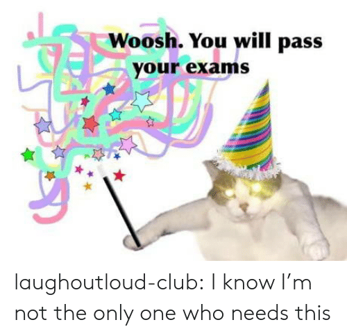 Club, Tumblr, and Blog: Woosh. You will pass  your exams laughoutloud-club:  I know I'm not the only one who needs this