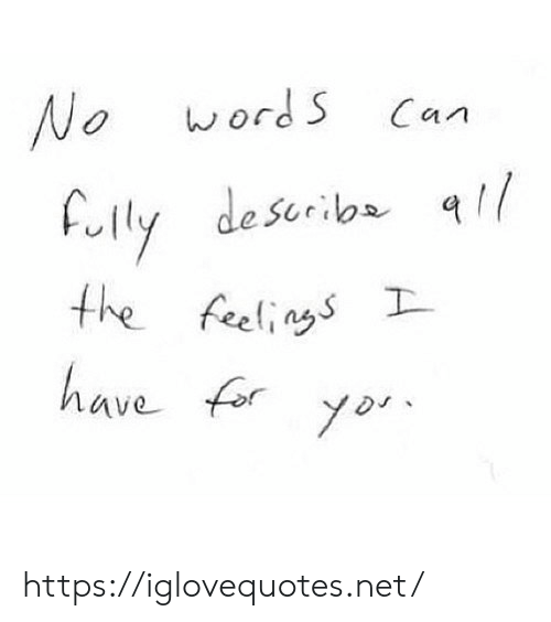 The Feelings: wordS  No  Can  Fully describa  the feelings  have fory  yor https://iglovequotes.net/