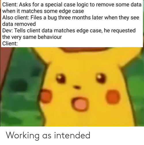 intended: Working as intended