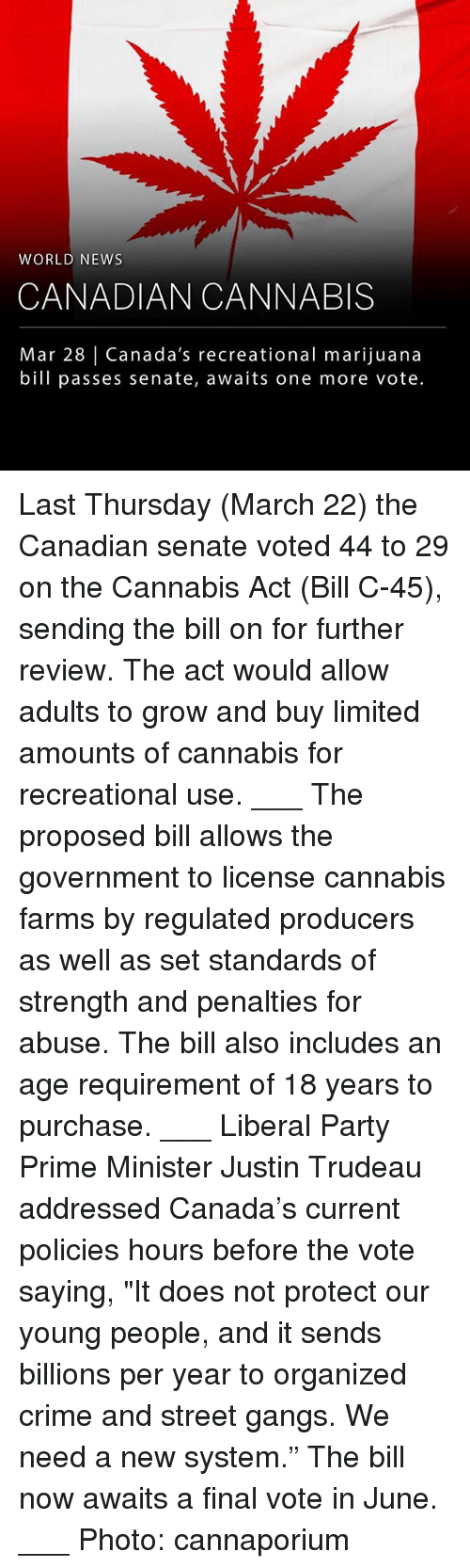 """Crime, Memes, and News: WORLD NEWS  CANADIAN CANNABIS  Mar 28 