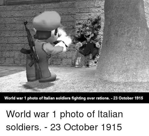 world war 1: World war 1 photo of Italian soldiers fighting over rations. 23 October 1915 World war 1 photo of Italian soldiers. - 23 October 1915