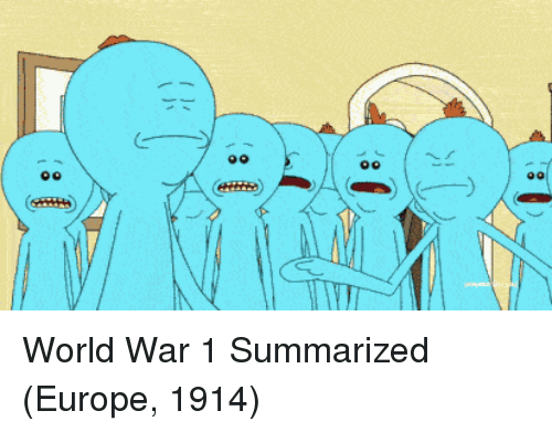 world war 1: World War 1 Summarized (Europe, 1914)