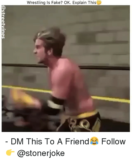 Fake, Memes, and Wrestling: Wrestling is Fake? OK. Explain This - DM This To A Friend😂 Follow 👉 @stonerjoke