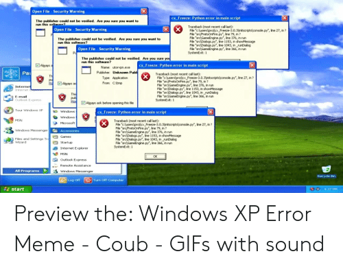 """Windows Xp Meme: 