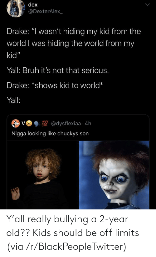 bullying: Y'all really bullying a 2-year old?? Kids should be off limits (via /r/BlackPeopleTwitter)